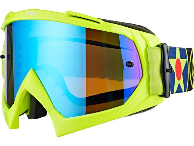 O'Neal B-10 Gafas, warhawk neon yellow/black-radium blue